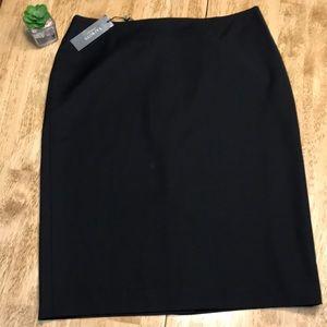 Talbots classic black skirt